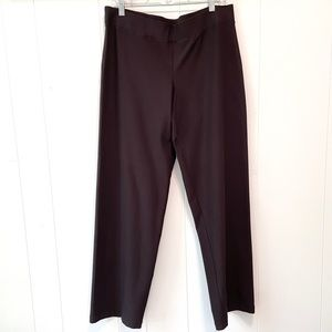 Eileen Fisher Pull-On Pants-Chocolate Brown